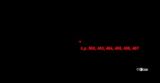 Bohnice 463,464,465,466,467,, Praha na parcele st. 827/27 v KÚ Bohnice, Katastrální mapa