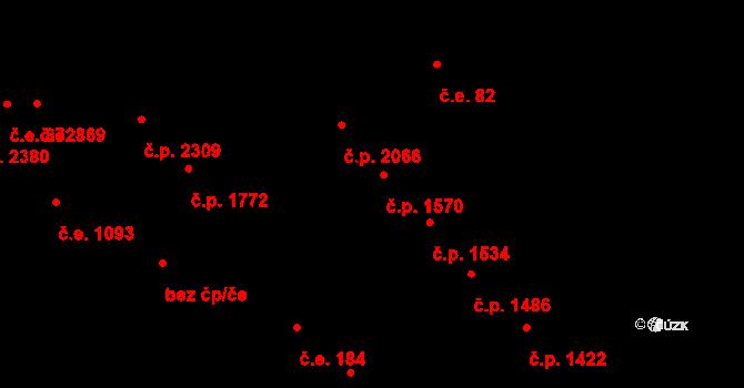 Aš 1570 na parcele st. 1711 v KÚ Aš, Katastrální mapa