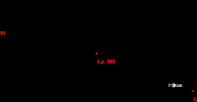 Libeň 360, Praha na parcele st. 2389 v KÚ Libeň, Katastrální mapa