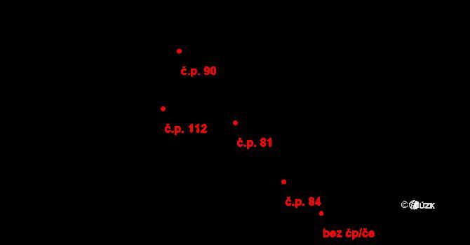 Komárov 81 na parcele st. 311 v KÚ Komárov u Napajedel, Katastrální mapa