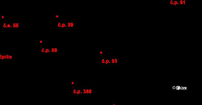 Březno 93 na parcele st. 4/2 v KÚ Březno u Chomutova, Katastrální mapa