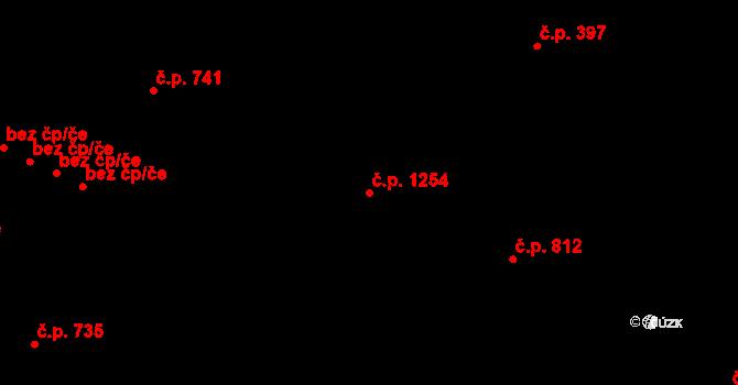 Svinov 1254, Ostrava na parcele st. 1160/3 v KÚ Svinov, Katastrální mapa