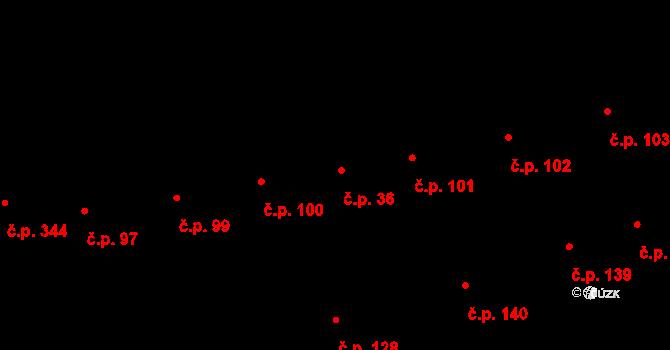 Lipov 36 na parcele st. 85/2 v KÚ Lipov, Katastrální mapa