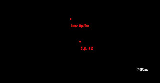 Tisová 12 na parcele st. 12 v KÚ Tisová u Vysokého Mýta, Katastrální mapa