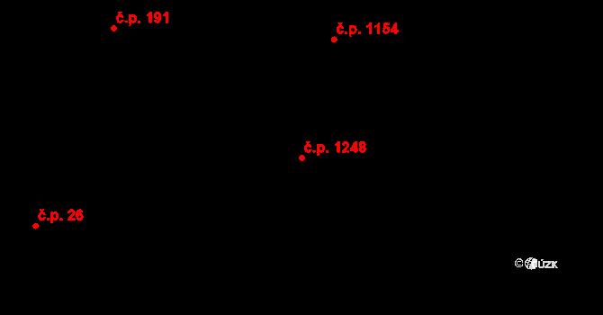 Svinov 1248, Ostrava na parcele st. 1602/2 v KÚ Svinov, Katastrální mapa