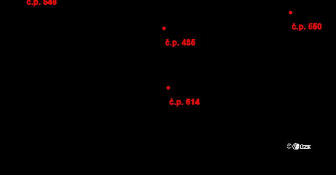 Slavonín 614, Olomouc, Katastrální mapa