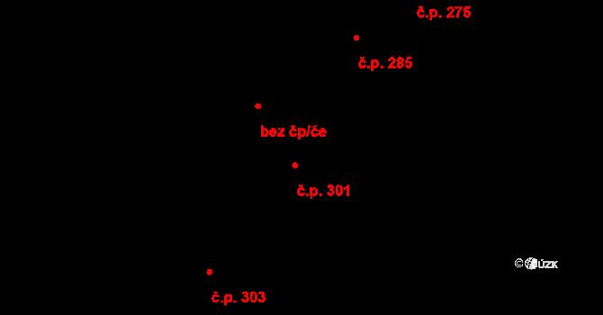 Luka nad Jihlavou 301 na parcele st. 361/1 v KÚ Luka nad Jihlavou, Katastrální mapa