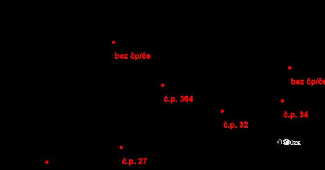 Březno 364 na parcele st. 141/3 v KÚ Březno u Chomutova, Katastrální mapa