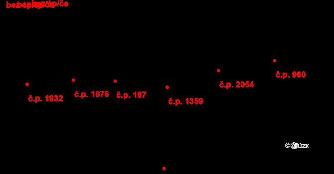Smíchov 1359, Praha na parcele st. 1308 v KÚ Smíchov, Katastrální mapa