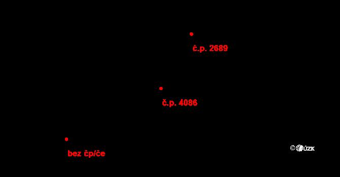 Zlín 4086 na parcele st. 5632 v KÚ Zlín, Katastrální mapa