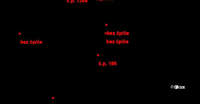Třešť 166 na parcele st. 2229/3 v KÚ Třešť, Katastrální mapa