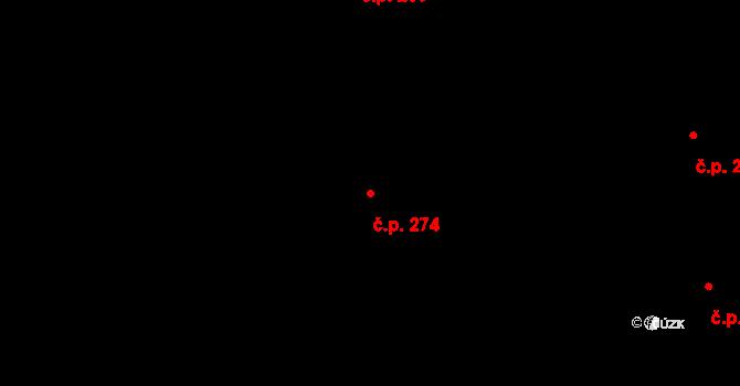 Malšova Lhota 274, Hradec Králové na parcele st. 478 v KÚ Malšova Lhota, Katastrální mapa