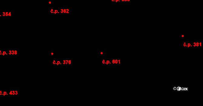 Liberec VII-Horní Růžodol 601, Liberec na parcele st. 830/2 v KÚ Horní Růžodol, Katastrální mapa