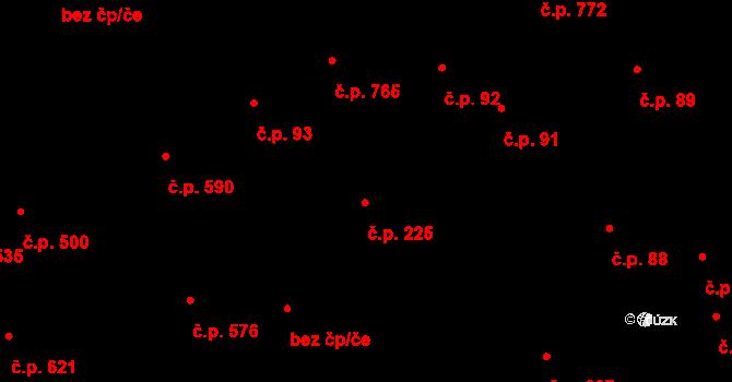 Kladno 225 na parcele st. 5054/1 v KÚ Kladno, Katastrální mapa