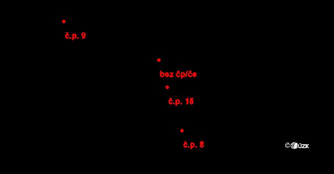Jetišov 15, Nihošovice na parcele st. 9 v KÚ Jetišov, Katastrální mapa
