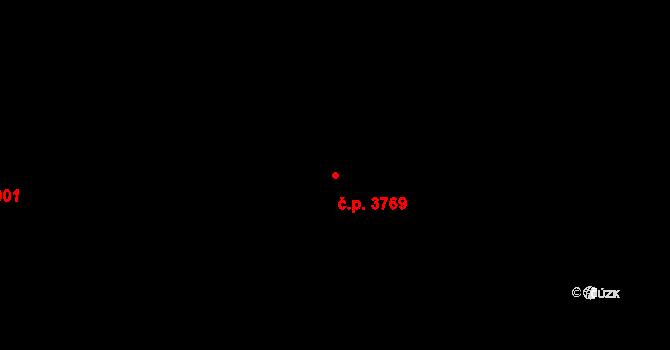 Zlín 3769 na parcele st. 4648 v KÚ Zlín, Katastrální mapa
