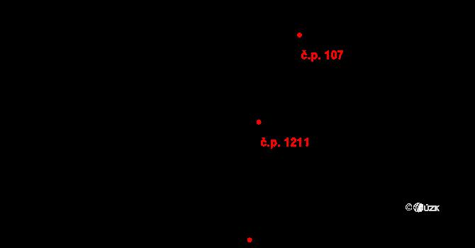 Mutěnice 1211 na parcele st. 6683/4 v KÚ Mutěnice, Katastrální mapa