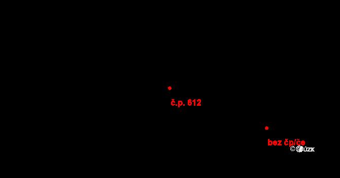 Mladcová 612, Zlín na parcele st. 1061 v KÚ Mladcová, Katastrální mapa