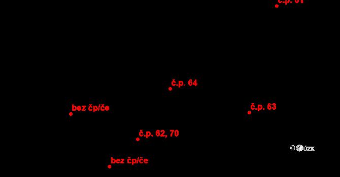 Kuklík 64 na parcele st. 100 v KÚ Kuklík, Katastrální mapa