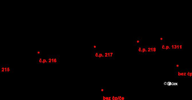 Hostivař 217, Praha na parcele st. 2511 v KÚ Hostivař, Katastrální mapa