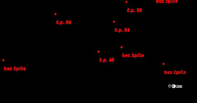 Malé Březno 46 na parcele st. 84/2 v KÚ Malé Březno, Katastrální mapa