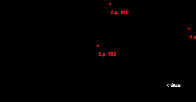 Mladcová 592, Zlín na parcele st. 1011 v KÚ Mladcová, Katastrální mapa