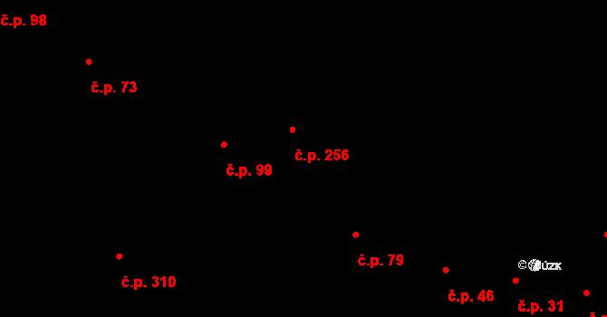 Nelahozeves 256 na parcele st. 336 v KÚ Nelahozeves, Katastrální mapa