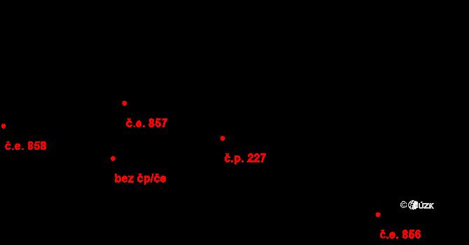 Jílové u Prahy 227 na parcele st. 392/1 v KÚ Jílové u Prahy, Katastrální mapa