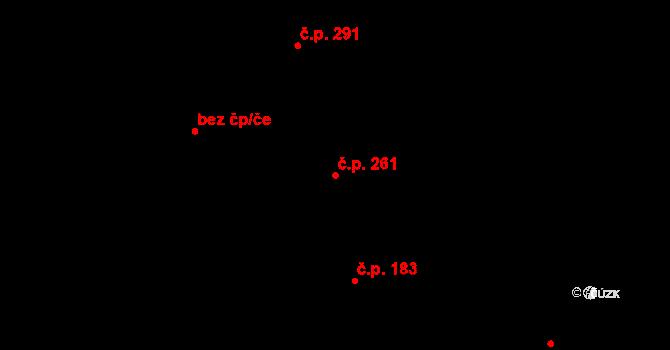 Prštné 261, Zlín na parcele st. 344 v KÚ Prštné, Katastrální mapa