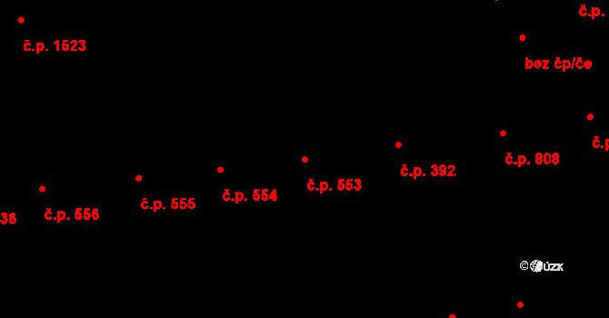 Holešovice 553, Praha na parcele st. 1787 v KÚ Holešovice, Katastrální mapa