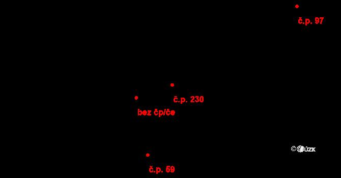 Černá za Bory 230, Pardubice na parcele st. 461 v KÚ Černá za Bory, Katastrální mapa