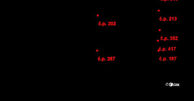 Bohunice 267, Brno na parcele st. 490/1 v KÚ Bohunice, Katastrální mapa