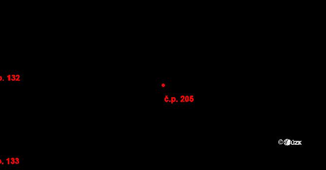 Vřesina 205 na parcele st. 478 v KÚ Vřesina u Bílovce, Katastrální mapa
