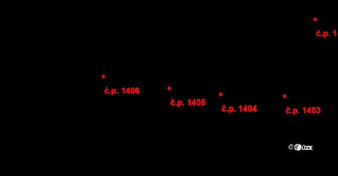 Holešovice 1405, Praha na parcele st. 494 v KÚ Holešovice, Katastrální mapa