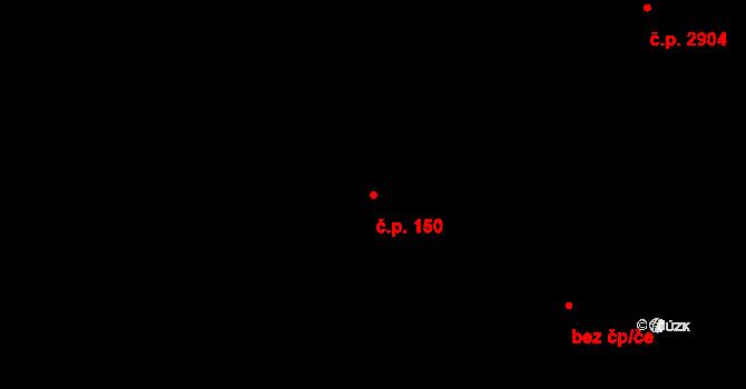 Nové Jesenčany 150, Pardubice na parcele st. 185 v KÚ Nové Jesenčany, Katastrální mapa