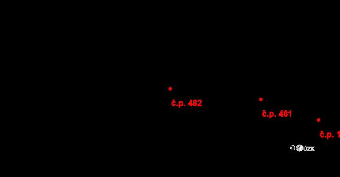 Nové Město 482, Rokycany na parcele st. 1119 v KÚ Rokycany, Katastrální mapa