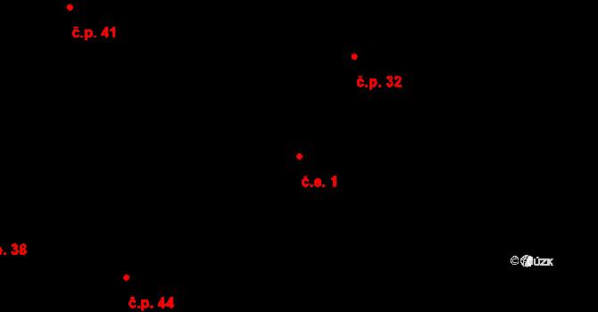 Kosov 1, Jihlava na parcele st. 308 v KÚ Kosov u Jihlavy, Katastrální mapa