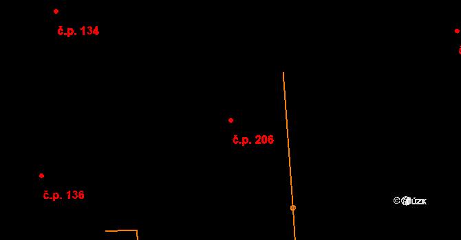 Studánka 206 na parcele st. 320 v KÚ Studánka u Tachova, Katastrální mapa
