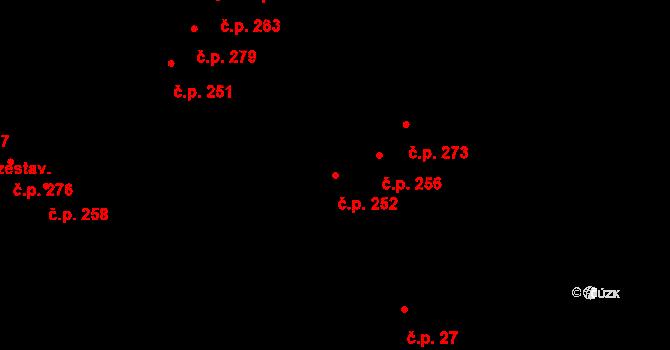Tašovice 252, Karlovy Vary na parcele st. 599 v KÚ Tašovice, Katastrální mapa