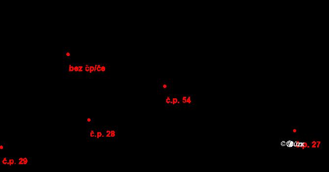 Vepřová 54 na parcele st. 19 v KÚ Vepřová, Katastrální mapa