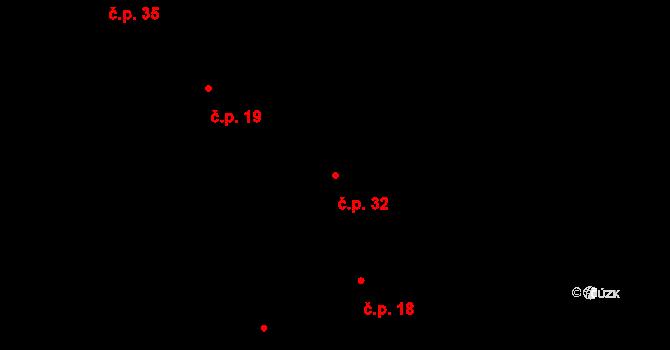 Bylany 32 na parcele st. 31 v KÚ Bylany, Katastrální mapa