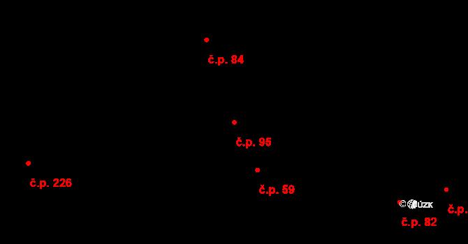 Nehvizdy 95 na parcele st. 69/2 v KÚ Nehvizdy, Katastrální mapa