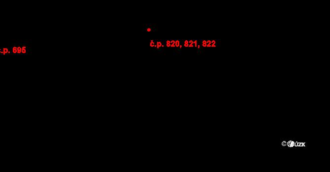 Malenovice 820,821,822, Zlín na parcele st. 1012 v KÚ Malenovice u Zlína, Katastrální mapa