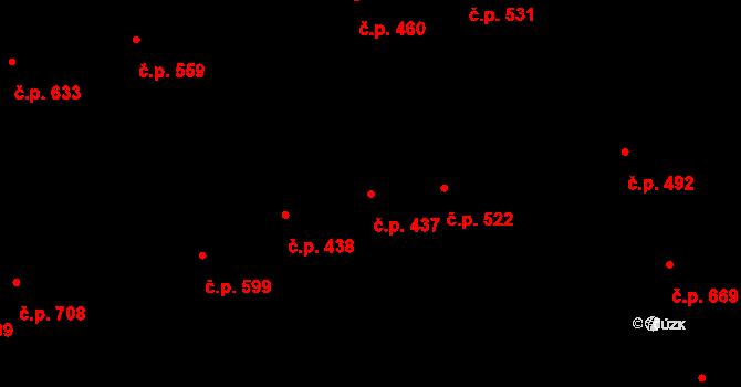 Zelené Předměstí 437, Pardubice na parcele st. 932/1 v KÚ Pardubice, Katastrální mapa