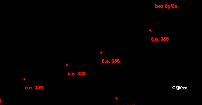 Lety 336 na parcele st. 1478 v KÚ Lety u Dobřichovic, Katastrální mapa