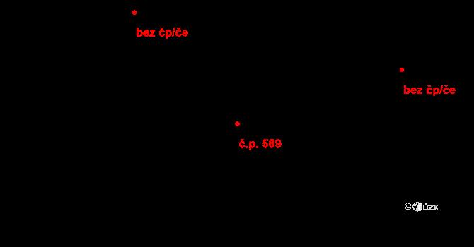 Běchovice 569, Praha na parcele st. 1313 v KÚ Běchovice, Katastrální mapa