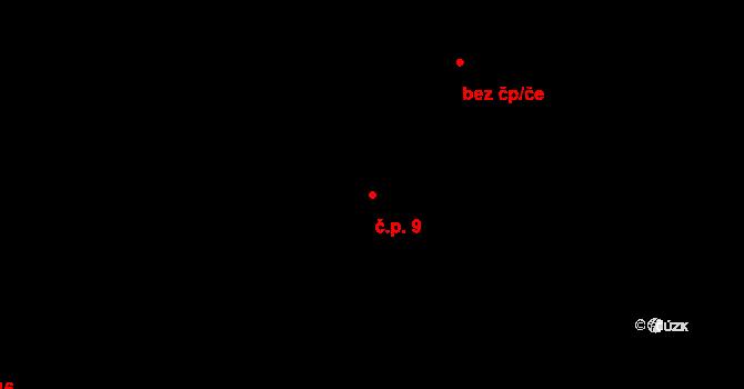 Čejkov 9, Nový Rychnov na parcele st. 47 v KÚ Čejkov, Katastrální mapa