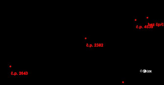 Jihlava 2382 na parcele st. 5402 v KÚ Jihlava, Katastrální mapa