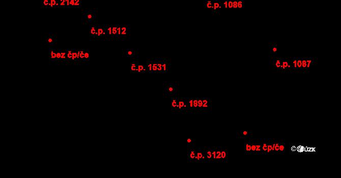 Česká Lípa 1892 na parcele st. 3883 v KÚ Česká Lípa, Katastrální mapa