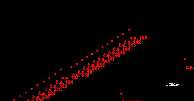 Náchod 147 na parcele st. 2036 v KÚ Náchod, Katastrální mapa